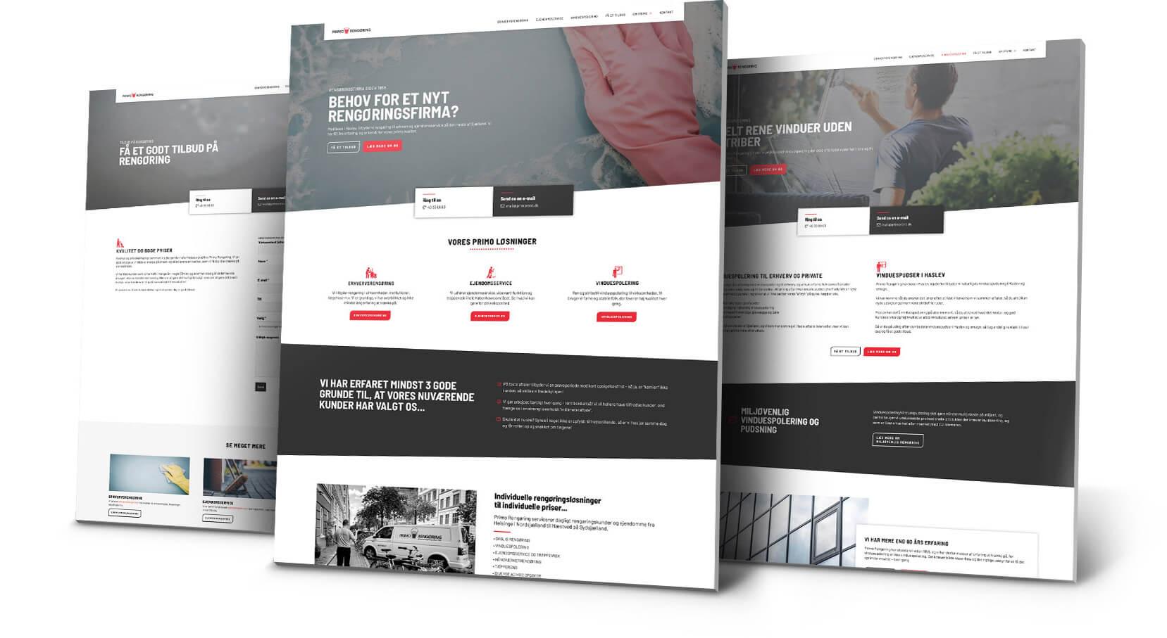 Webdesign til Primo Rengøring