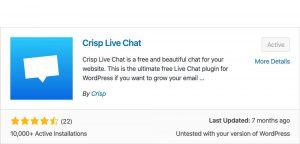 Crisp live chat plugin