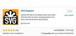 SVG Support plugin