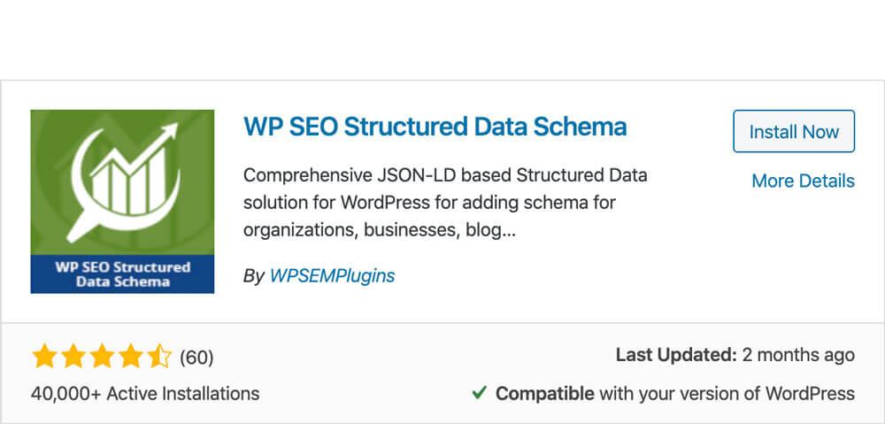 Structured data schema