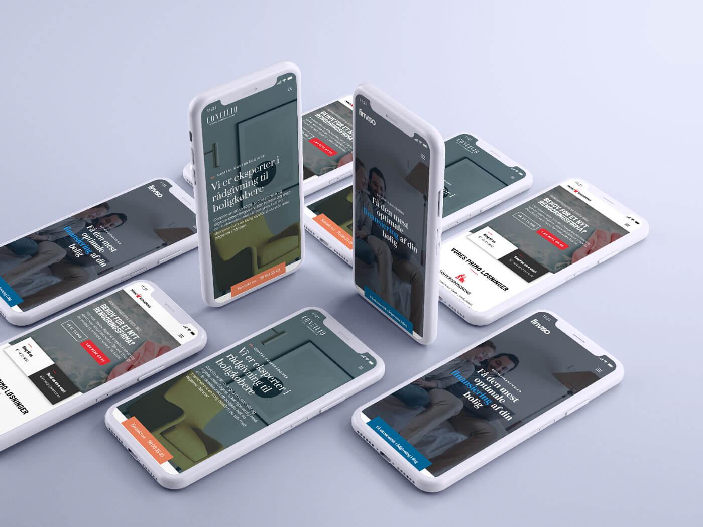 Webdesign optimeret til mobiltelefoner