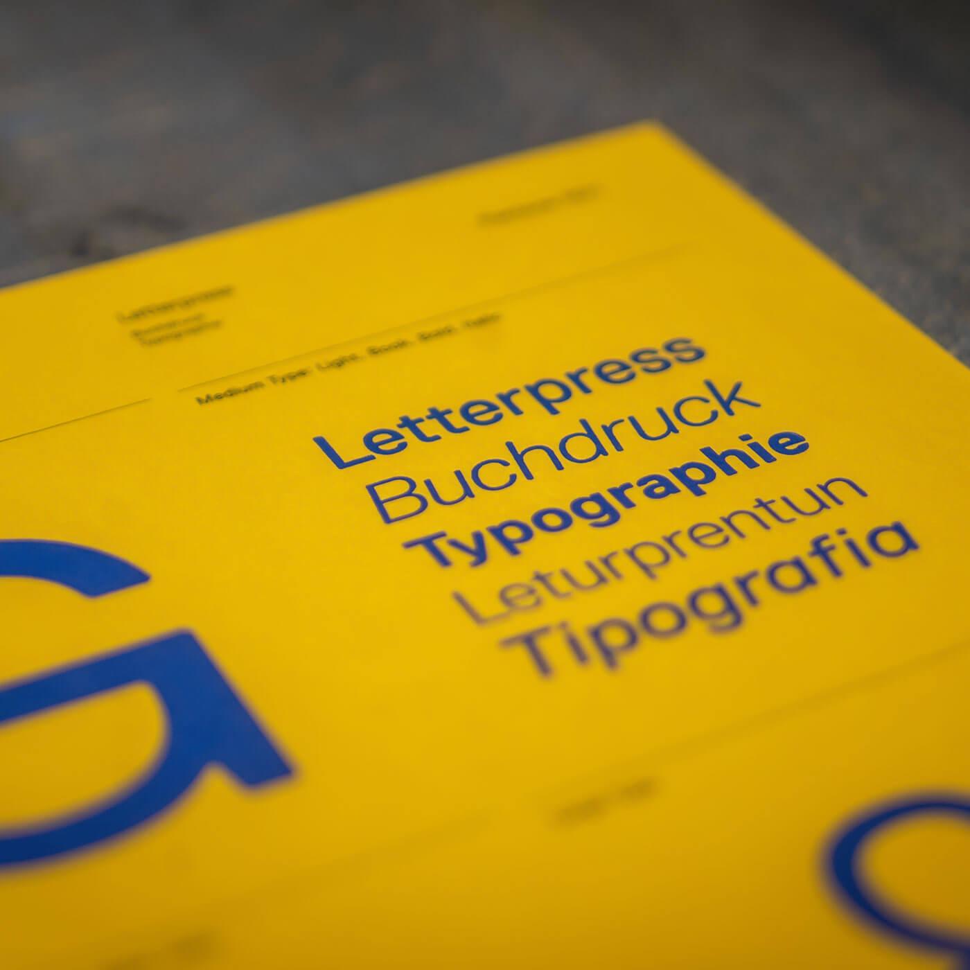 Typografi i en designmanual
