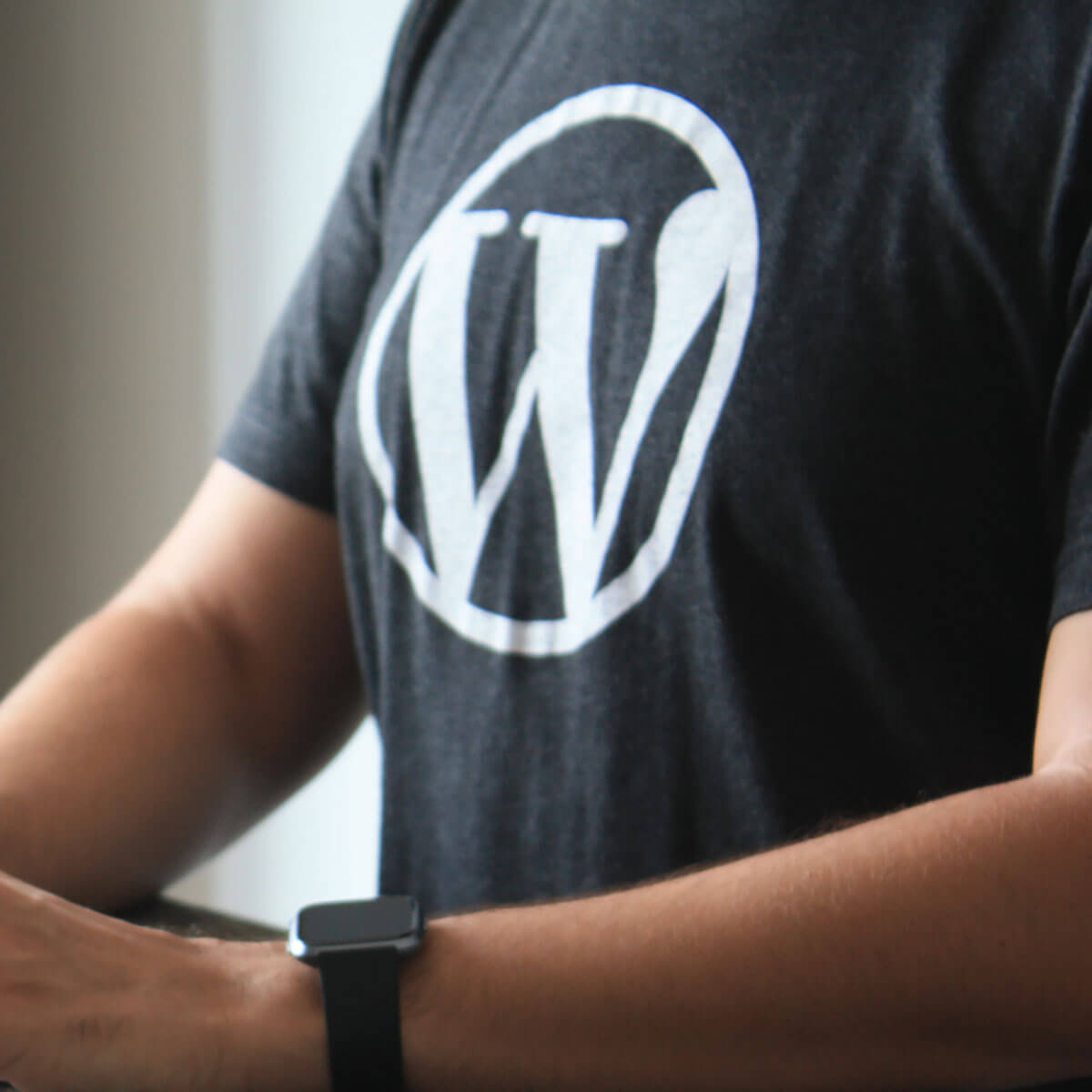 WordPress logo på t-shirt