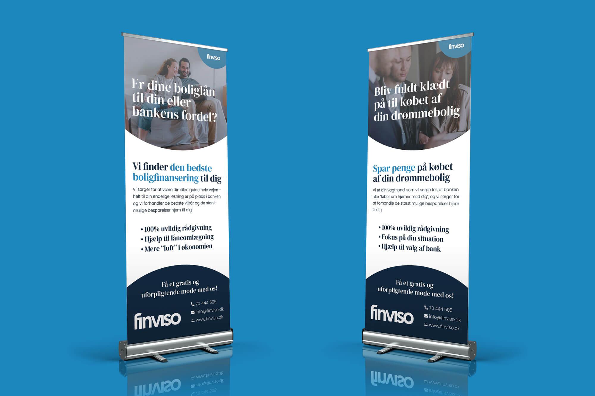 Design af roll ups til FinViso